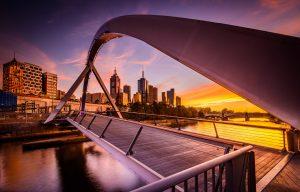 Sunrise in Melbourne Australia