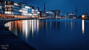 Kreativkai by night, Muenster, Germany