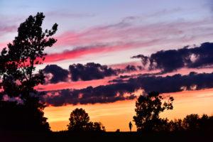 Caribou sunset