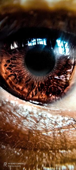 My retina close up